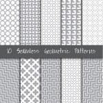 Seamless Geometric Patterns Set. — Stock Vector #74198853