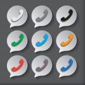 Phone icons set — Stock Vector