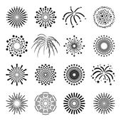 Beautiful Fireworks Set — Stock vektor