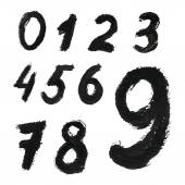 Black handwritten numbers — Stock Vector