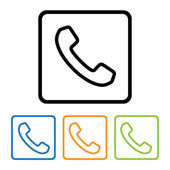 Phone icons buttons — Stock Vector