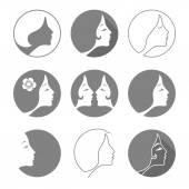 Woman fashion icon or logo — Wektor stockowy
