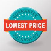 Lowest price guarantee flat label — Stock Vector