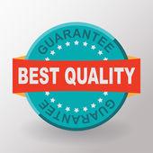 Best quality guarantee flat label — Stock Vector