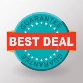 Best deal guarantee flat label — Stock Vector