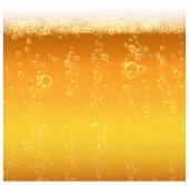 Background beer with foam — Stockvector