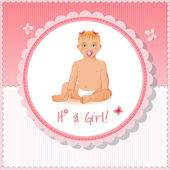 It's a girl card and background — Stock Vector