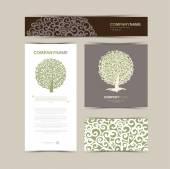 Kartvizit şablonu ile stilize ağaç — Stok Vektör