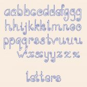 Hand written letters. English alphabet . Vector set. — Stock Vector