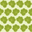 Abstract vector green leaves seamless wallpaper background pattern design. e p s 8 — Stock Vector #52973455