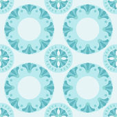 Round lotus ornament, seamless wallpaper background pattern design. Abstract vector e p s 8. — Wektor stockowy
