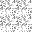 Black circle, helix, bubbles, seamless wallpaper background pattern design. Abstract vector. — ストックベクタ #63674949