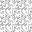Black circle, helix, bubbles, seamless wallpaper background pattern design. Abstract vector. — Stok Vektör #63674949
