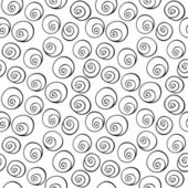Black circle, helix, bubbles, seamless wallpaper background pattern design. Abstract vector. — Stock Vector