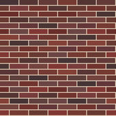 Reddish-brown smooth brick wall. Endless texture, web page background. Vector seamless pattern. — Stock Vector