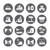 Terrain, locality icon set. — Stock Vector