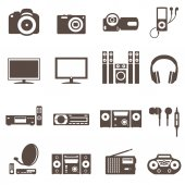 Audio video tv equipment icon — Vetor de Stock