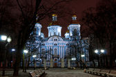 View of the evening church — Photo