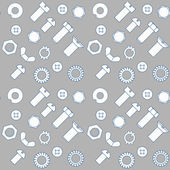Set of bolts, nut and washers — Stock Vector
