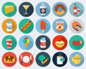 Vetor ícones de comida — Vetorial Stock