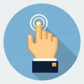 Vector touch finger icon — Stock Vector