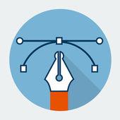 Vector pen tool icon — Stock Vector