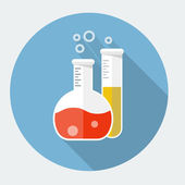 Vector laboratory glassware icon — Stock Vector