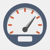 Vector speedometer icon — Stock Vector