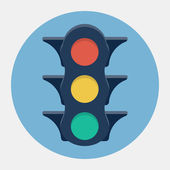 Vector traffic lights icon — Stock Vector