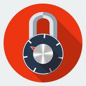 Vector combination padlock icon — Vettoriale Stock