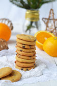 Shortbread cookies with butterscotch and chocolate — Stockfoto