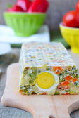Vegetable bread with egg.selective focus — Stock Photo
