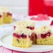 Постер, плакат: Cherry pie with crispy crumbs selective focus