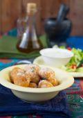 Meatballs from bulgur.selective focus — Stock Photo