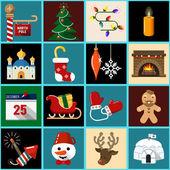 Iconos de navidad 2 — Vector de stock