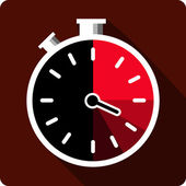 Vector Stopwatch Flat Icon — Vector de stock