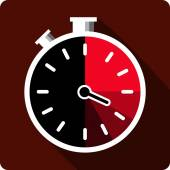 Vector Stopwatch Flat Icon — Stock Vector