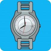 Vector Wristwatch Flat Icon — Stock Vector