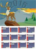 Year Calendar 2015 — Stock Vector