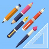 Writing and Paint Tools — Stock Vector