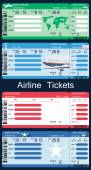 Airline Boarding Pass Tickets — Stock Vector