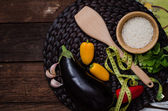 A collection of vegetarian — Stock Photo