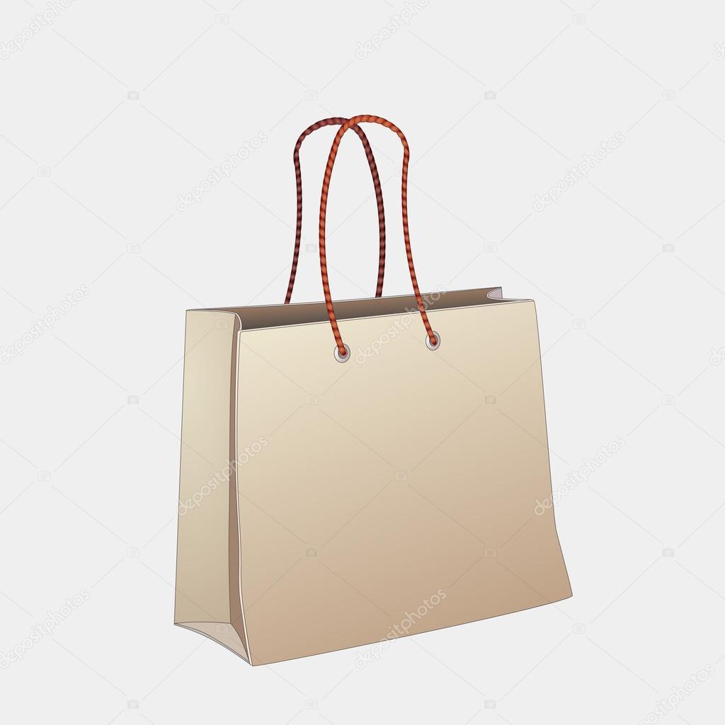 矢量购物袋— vector by