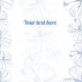 Mão de vetor desenho floral fundo — Vetor de Stock