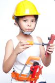 Little handyman — Stock Photo