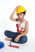 Little handyman — Zdjęcie stockowe