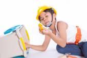 Little handyman — Photo