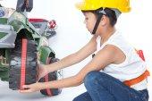 Little handyman — Стоковое фото