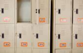 Beige Lockers — Стоковое фото