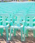 Plastic seats — Stock Photo